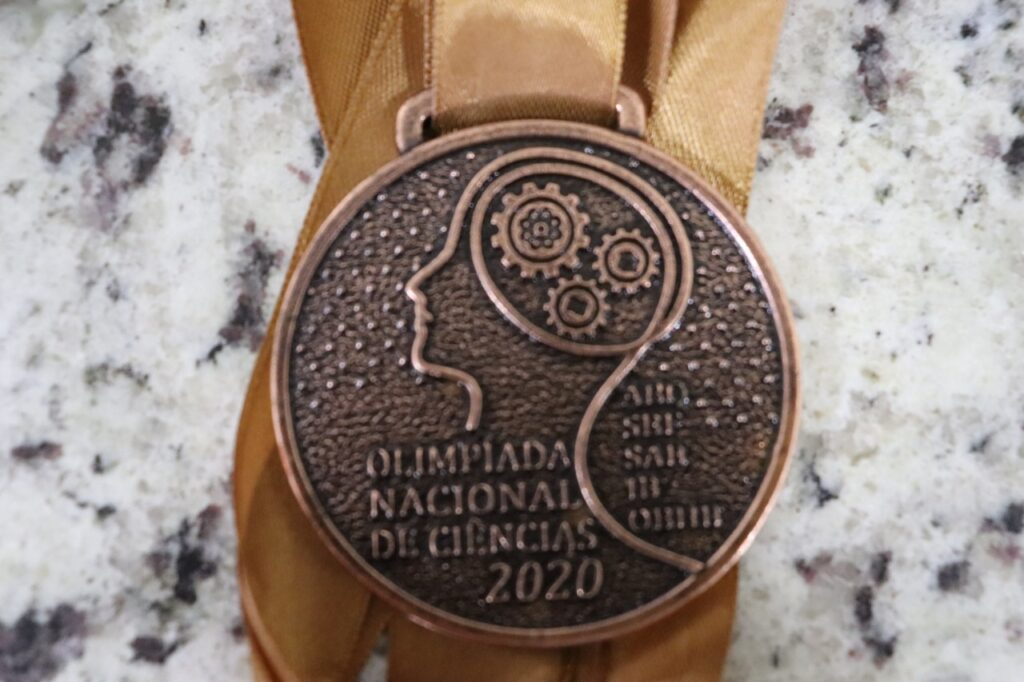 Medalha de bronze da Olimpíada Nacional de Ciências 2020